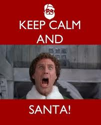 keep calm and santa