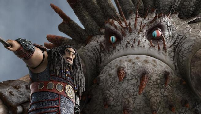 Dragon and his alpha dragon.