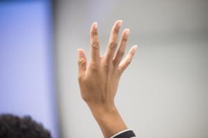 hand raiased