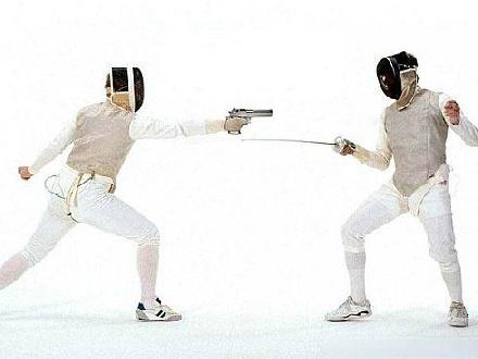 fencing gun
